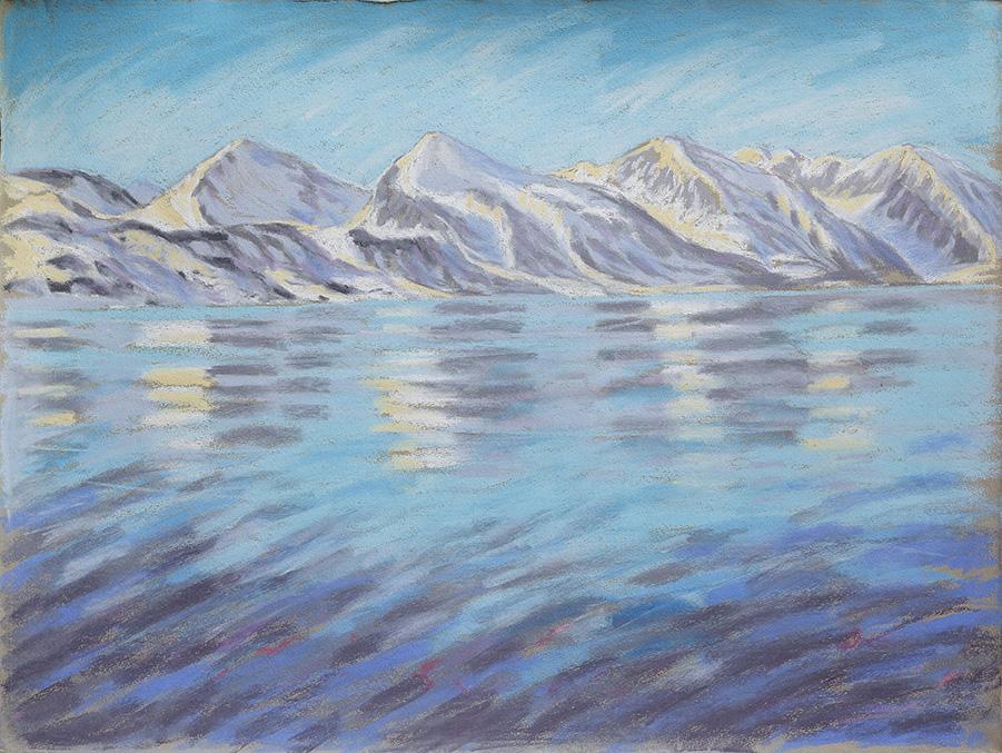 Kongsfjord-in-der-Mitternachtssonne-Ny-Ålesund-Spitzbergen