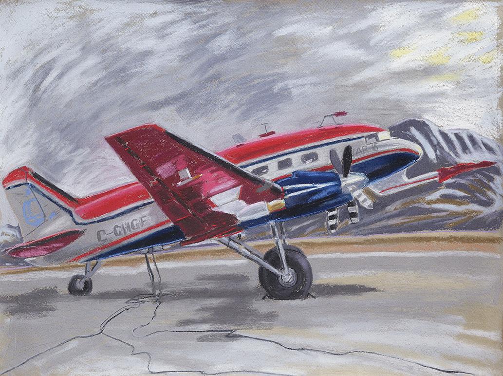 Longyearbyen-Spitzbergen-Forschungsflugzeug-Polar-6-Svalbard-Lufthavn