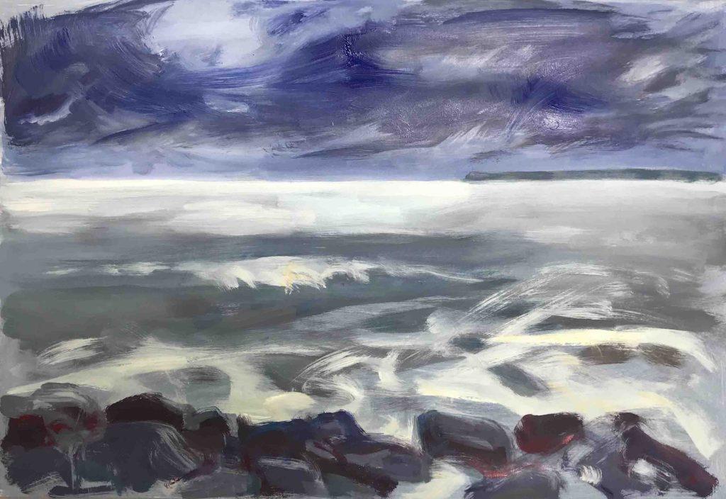 Sturm, (Lohme) Acryl 2021 c) Kerstin Heymach